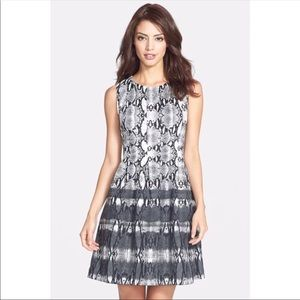 Vince Camuto Snake Print Tiered Dress